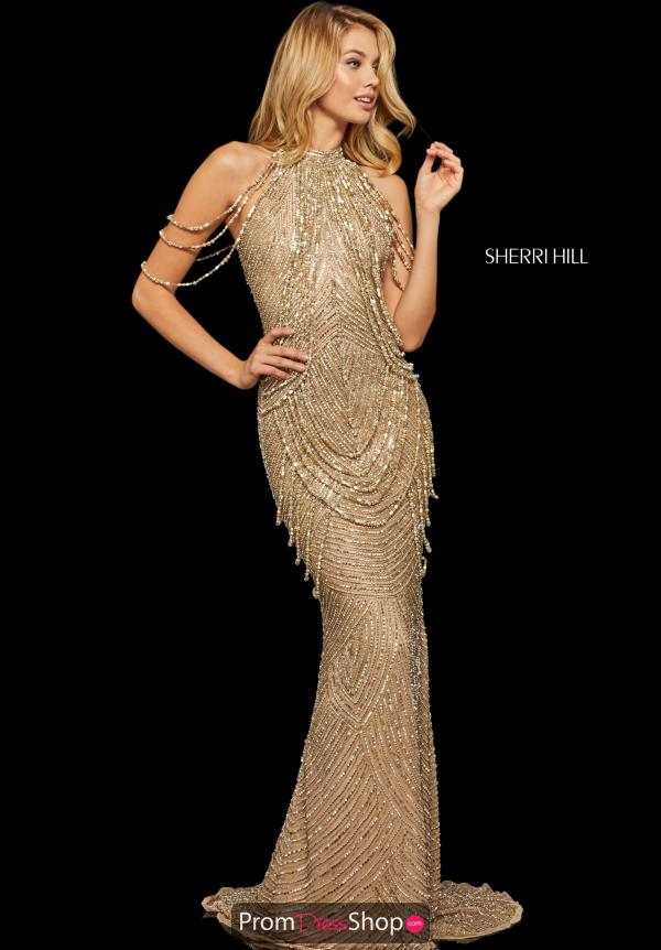 Sherri Hill Open Back Fitted Dress 52949