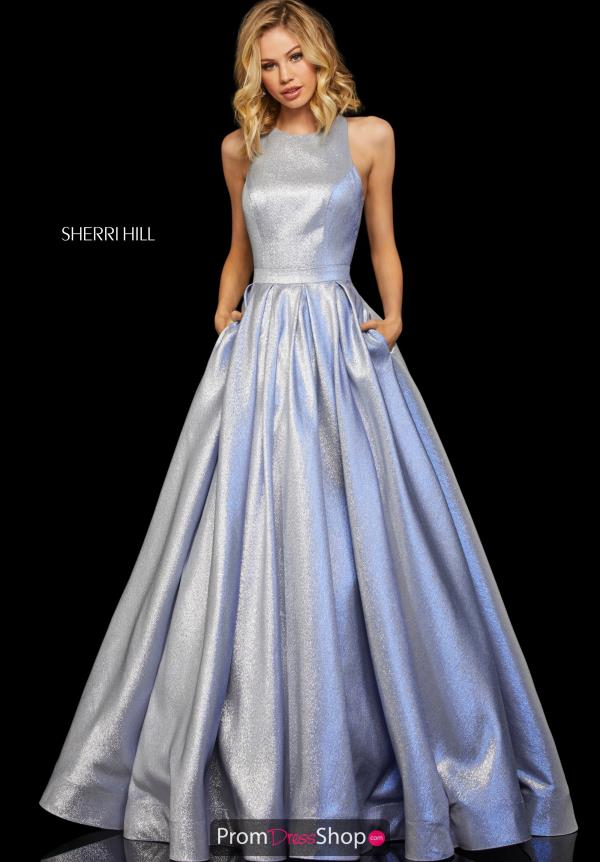 Sherri Hill High Neckline A Line Dress 52957
