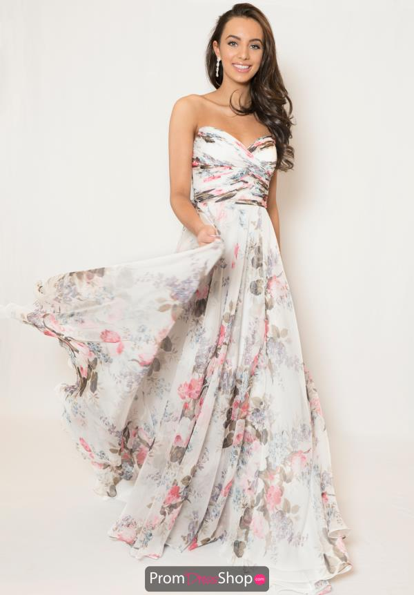 Sherri Hill Long Print Dress 52872