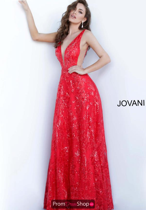 Jovani Beaded A Line Dress 66168