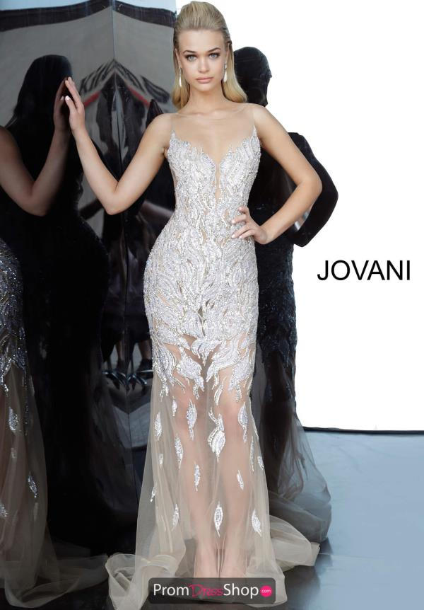 Jovani Open Back Fitted Dress 67786