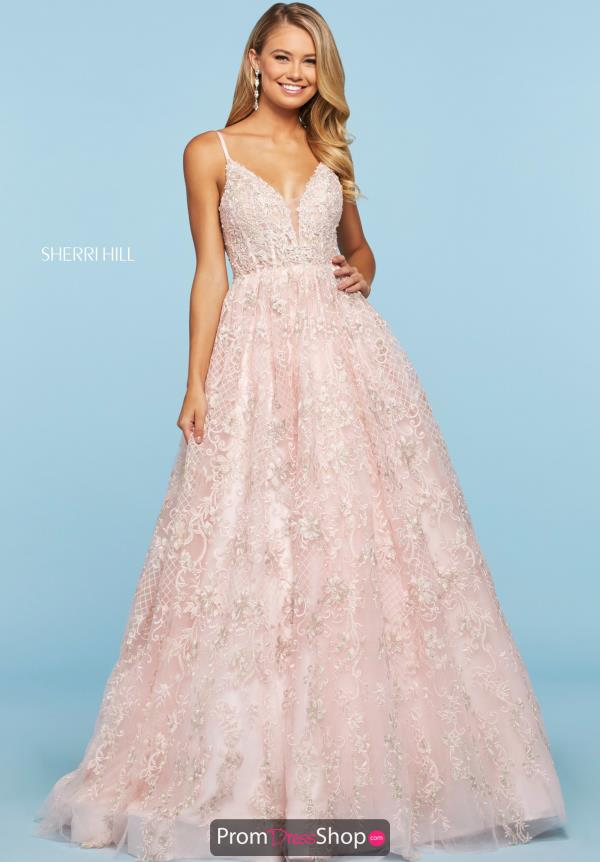 Sherri Hill V-Neck Beaded Dress 53625