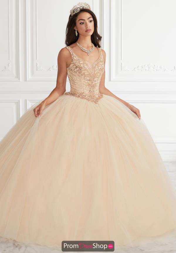 Tiffany Quinceanera Beaded Tulle Gown 56396