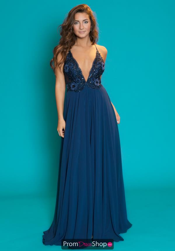 Jasz Couture Flowing Chiffon A-Line Dress 6485