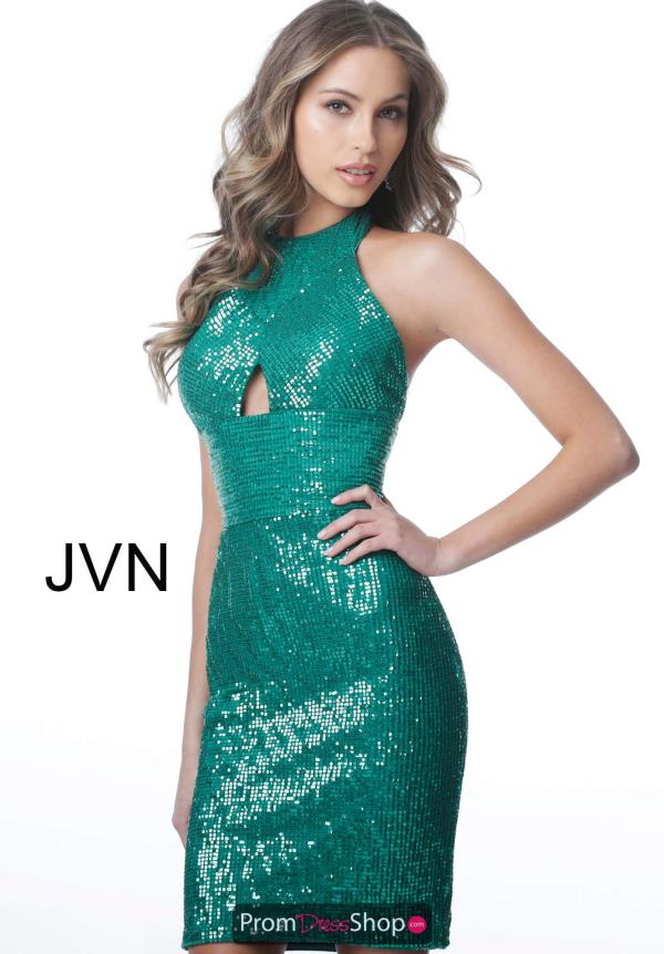JVN by Jovani Halter Fully Beaded Dress JVN2064