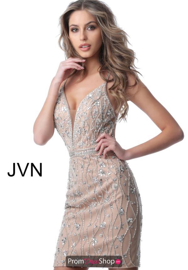 c8e373daf1d39 JVN by Jovani Open Back Fitted Dress JVN2601