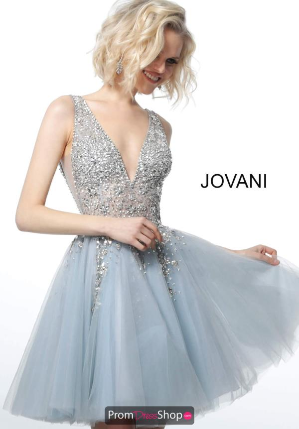 Jovani Short V-Neck Beaded Dress 1774