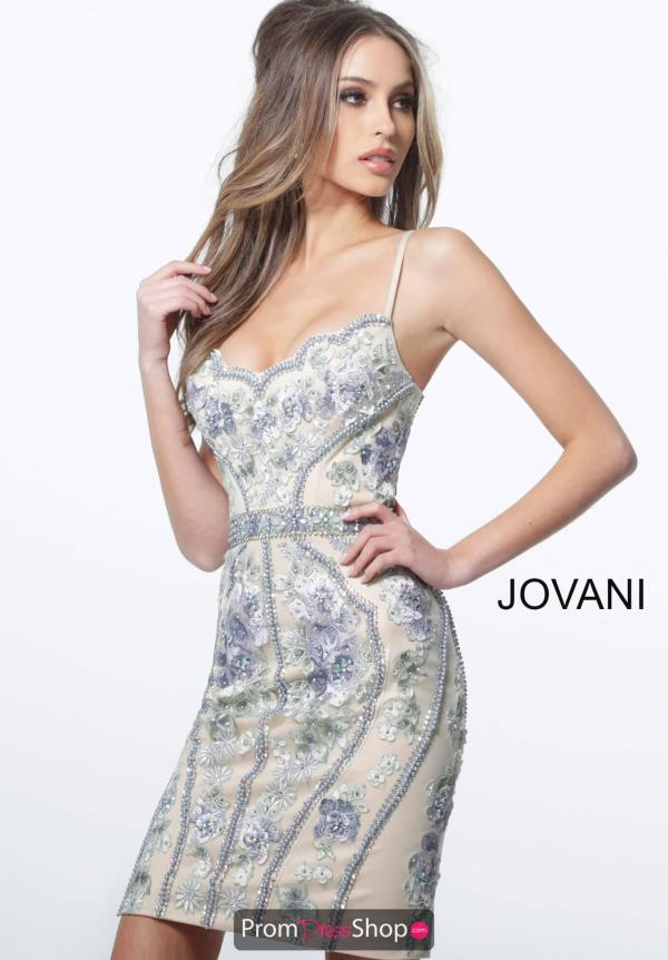 Jovani Short Fitted Beaded Dress 66318