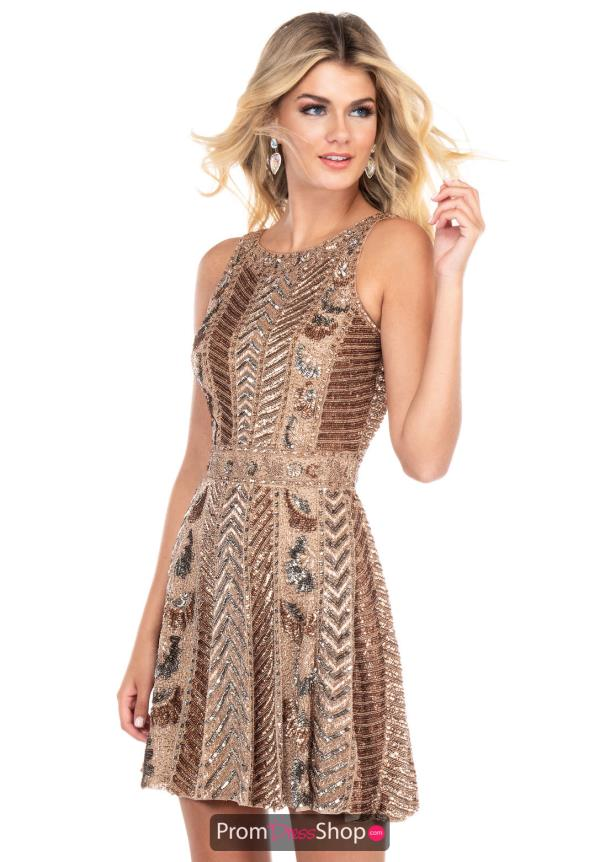 Rachel Allan Short Beaded Dress 4130
