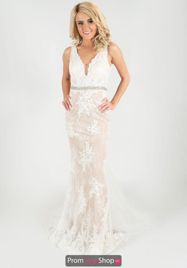 Jasz Couture Fitted Lace dress 6452