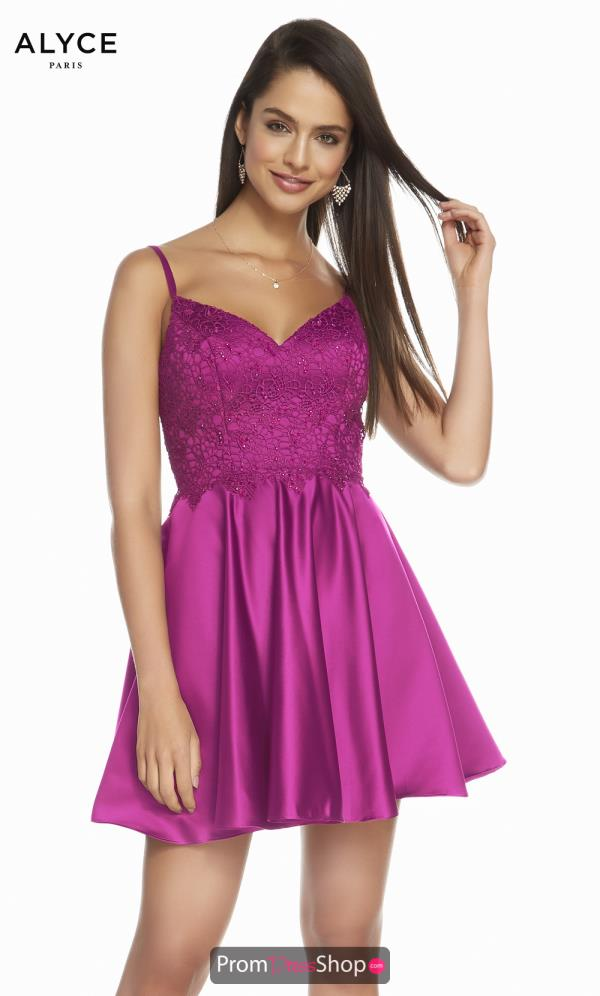 Alyce Paris A Line Satin Dress 3848