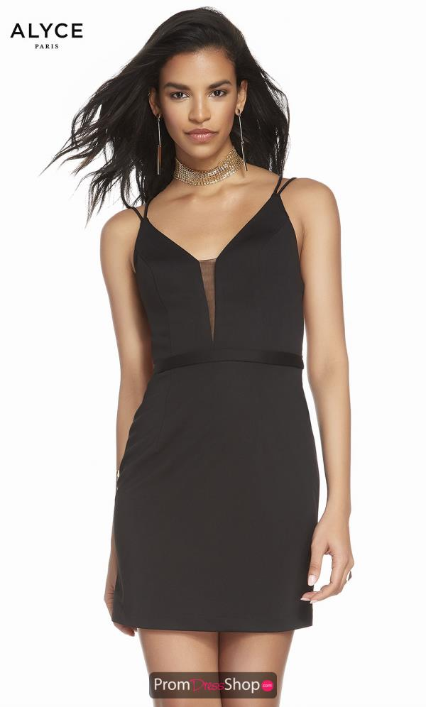 Alyce Paris Sexy Back Fitted Dress 4090