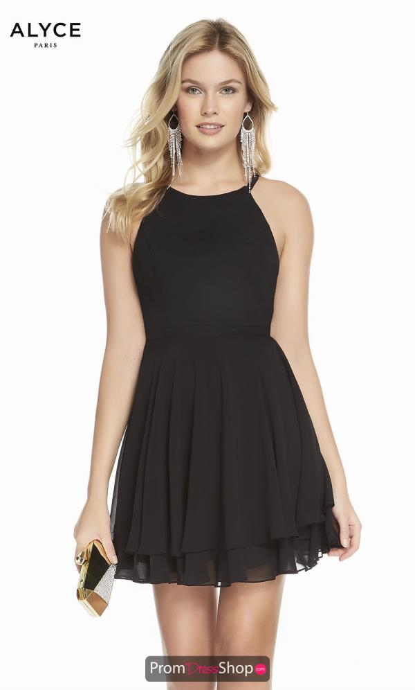Alyce Paris Black A Line Dress 1491
