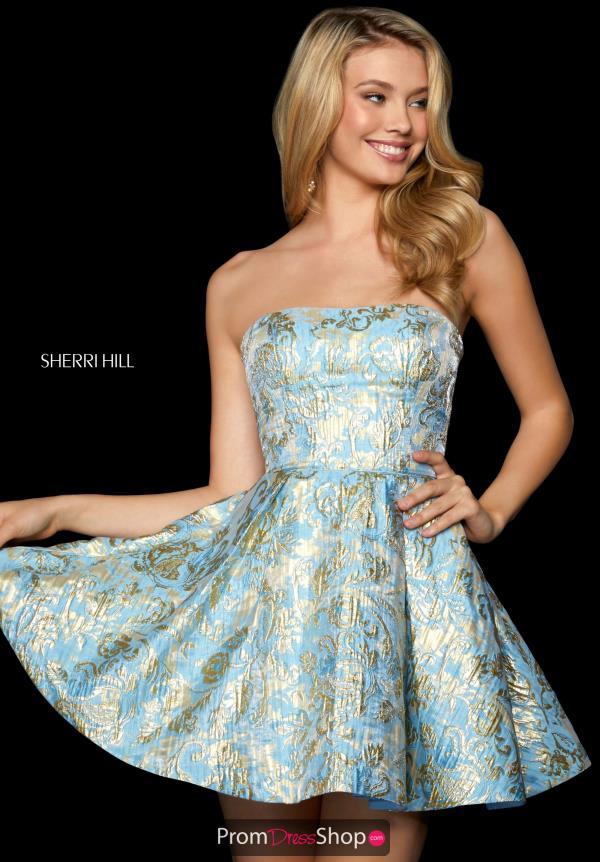 Sherri Hill Short Dress 53255 Promdressshop Com