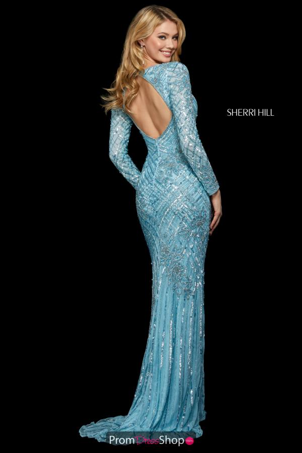 Sherri Hill Long Sleeved Fitted Dress 53130