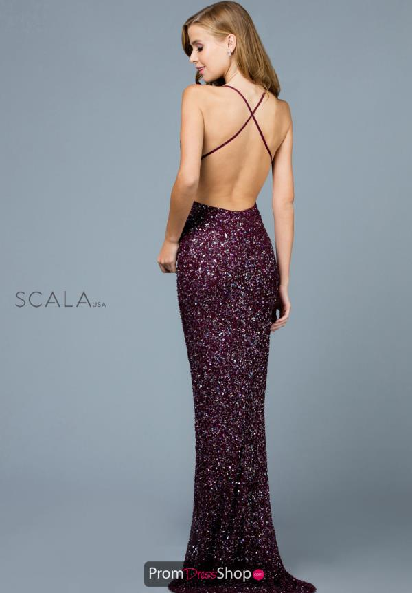 Scala Fitted Long Dress 48938