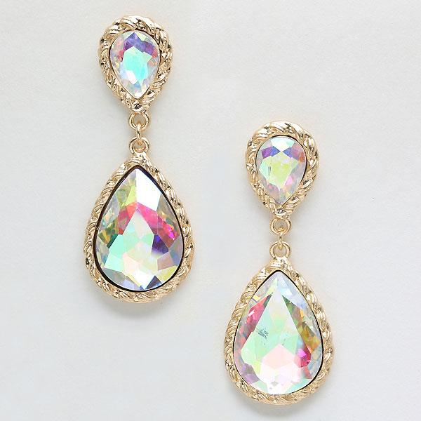 Iridescent Gold Earrings Style Eve222
