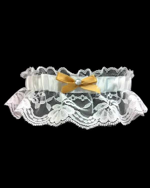 Charming Prom Gold Lace Garter