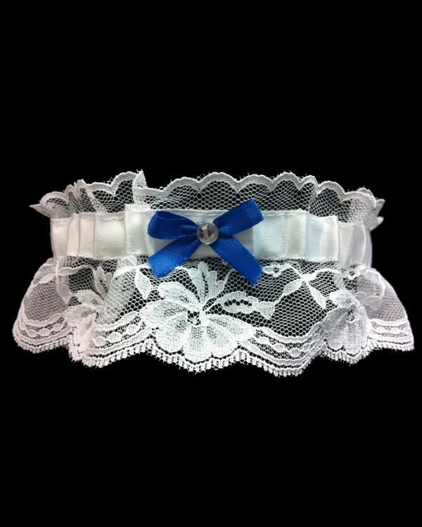 Royal Blue Bow Prom Lace Garter