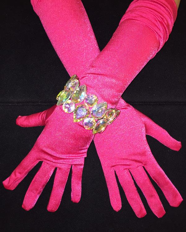 Matte Long Vibrant Calypso Gloves