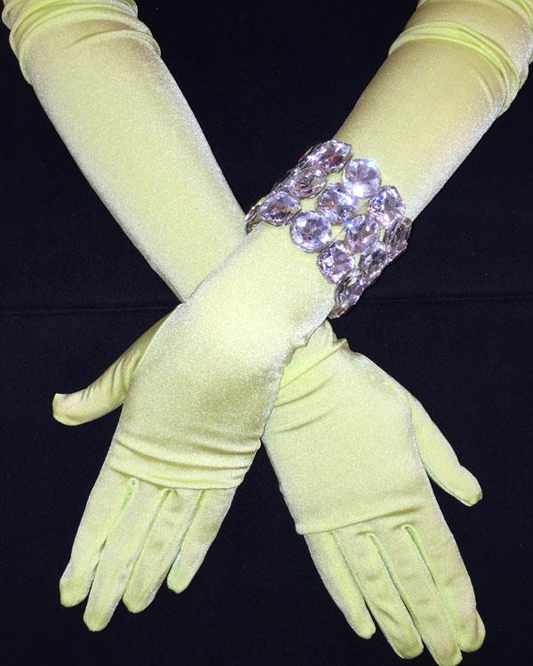 Matte Stretchy Key Lime Gloves