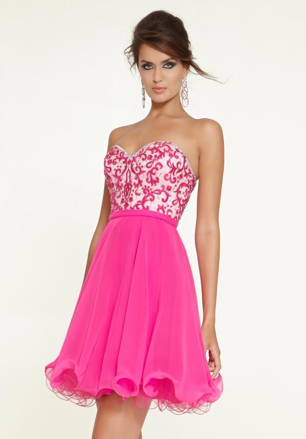 Fantástico Mori Lee Red Prom Dress Foto - Colección del Vestido de ...