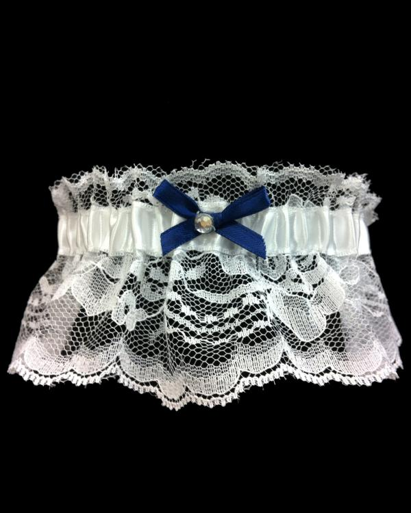 Beautiful Prom Navy Blue Lace Garter