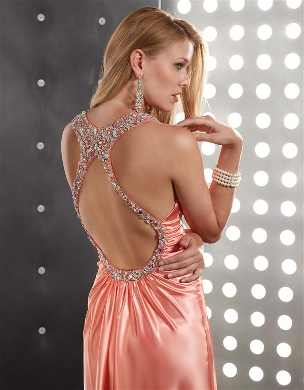 Jasz Couture Open Back Dress 4363