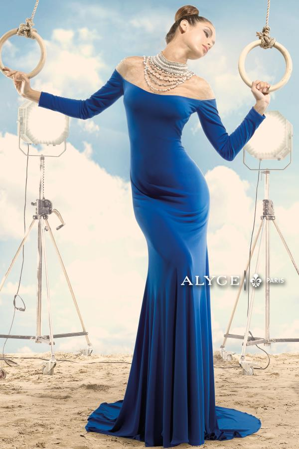Alyce Paris Fitted Jersey Dress 2411