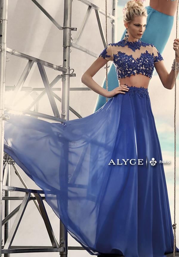 Alyce Paris Long Chiffon Dress 2437
