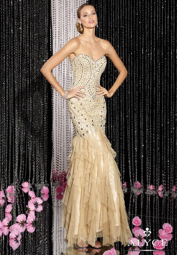 Alyce Paris Beaded Mermaid Dress 5611