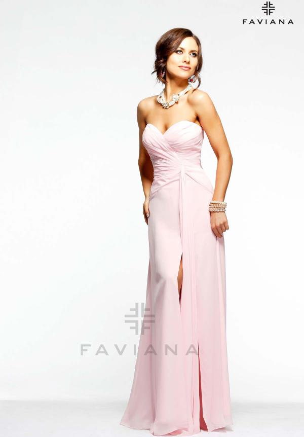 Sexy Faviana Celebrity Long Pink Dress 6428
