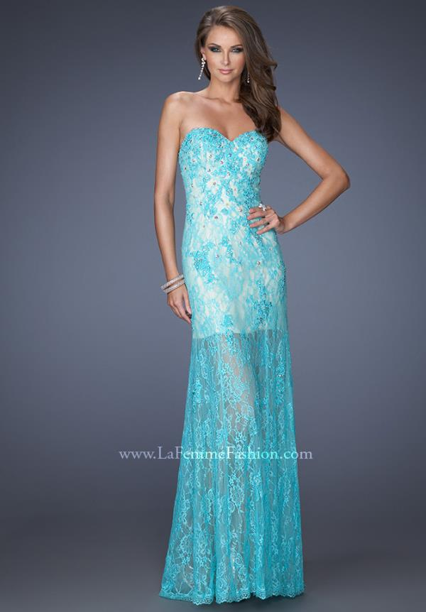 Gigi Fitted Lace Long Dress 20075
