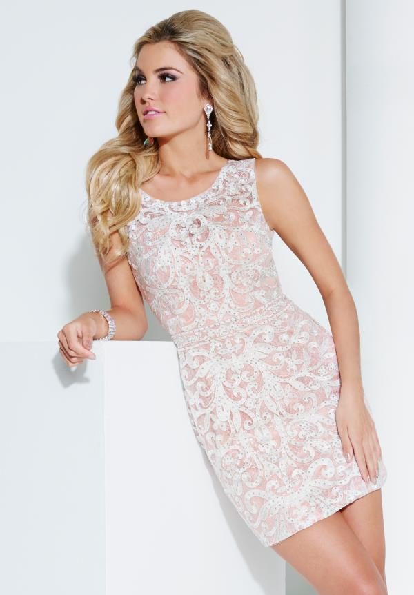 Hannah S Fitted Short Dress 27959
