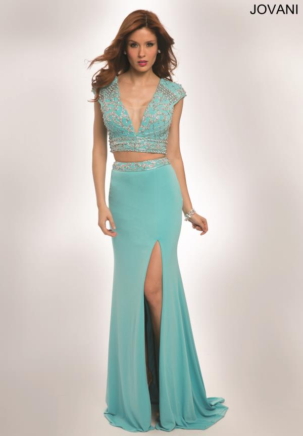 Jovani Sleeved Two Piece Dress 98375