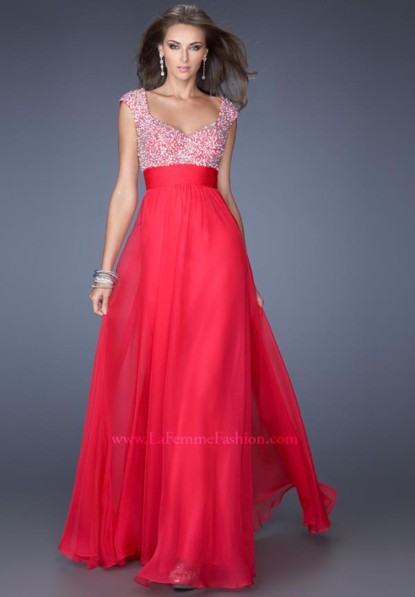 La Femme Beaded Top Dress 20003