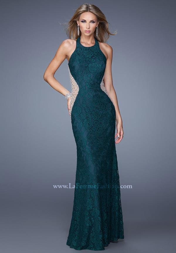Stunning Lace La Femme Green Dress 20896