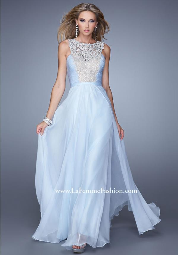 La Femme 21222 Intricate Long Dress