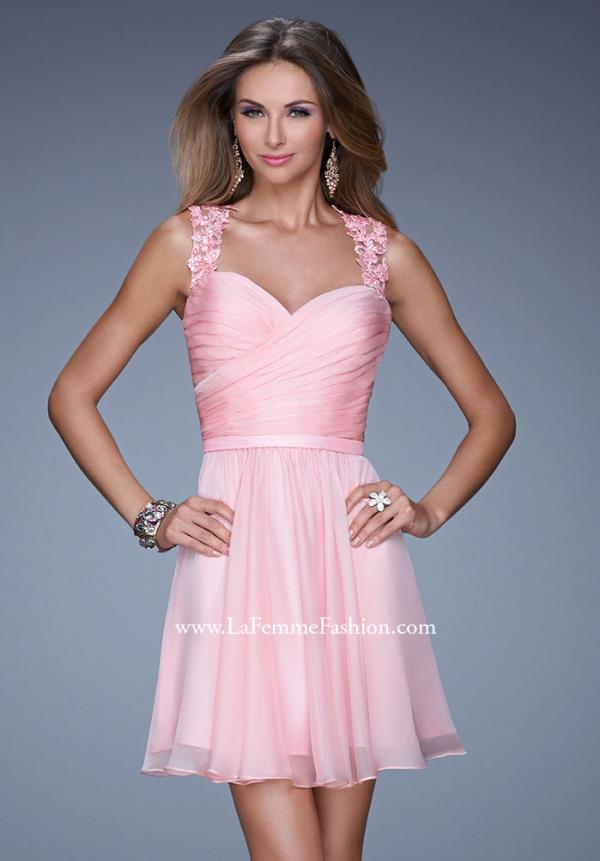 La Femme Ruched Bodice Dress 20590