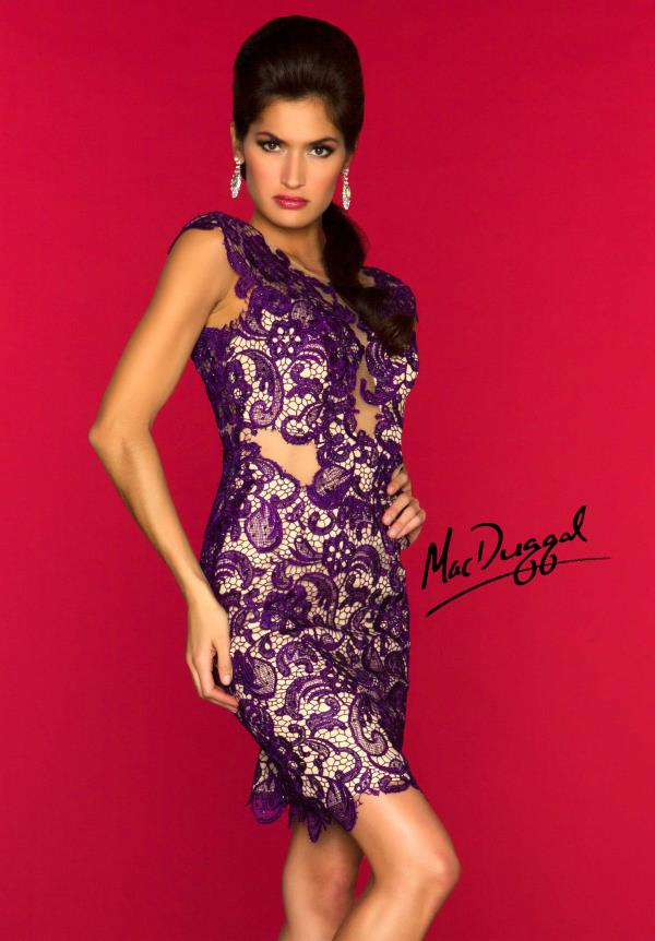 MacDuggal Cocktail Cap Sleeve Dress 61431R
