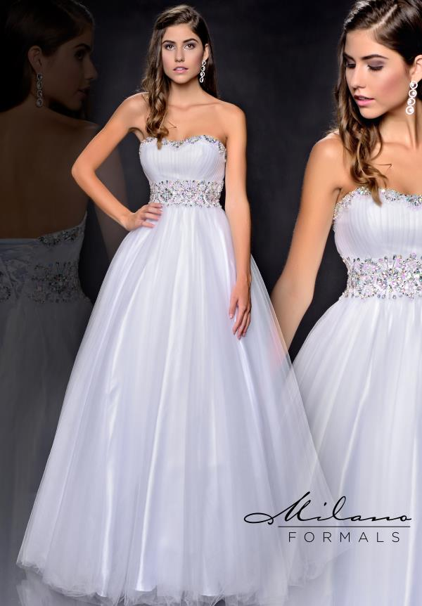 Milano Formals Tulle A Line Dress E1811
