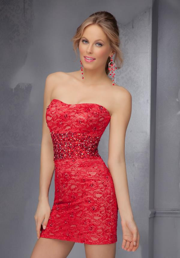 Mori Lee Sticks & Stones Beaded Short Dress 9294