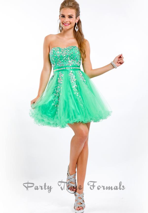 Party Time Strapless Dress 6462