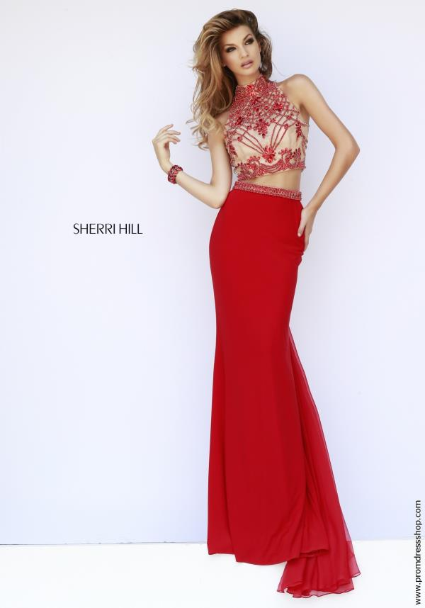Sherri Hill Sexy Beaded Back Dress 11212