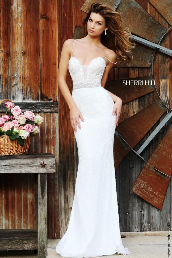 Sherri Hill Long Beaded Bridal Dress 11260