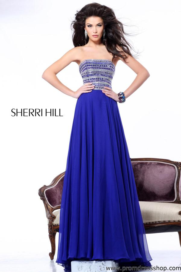 Strapless Long Sherri Hill Dress 1539