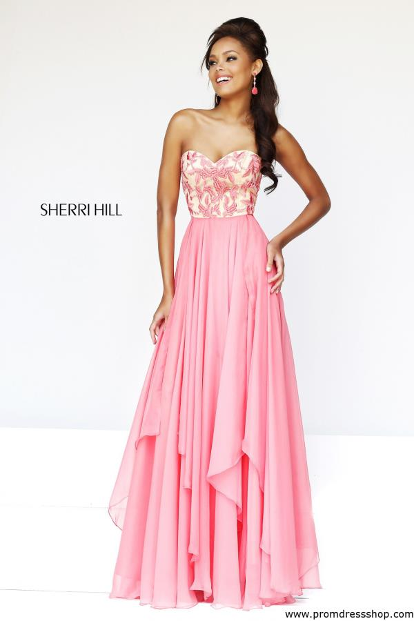 Sherri Hill Empire Waist Chiffon Dress 1924