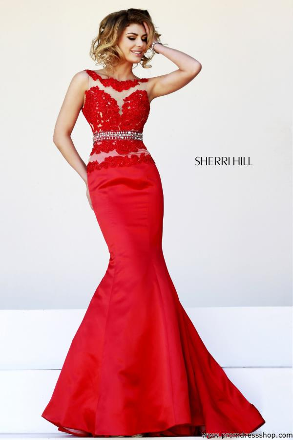 Hill Fitted Formal Red Dress 32033