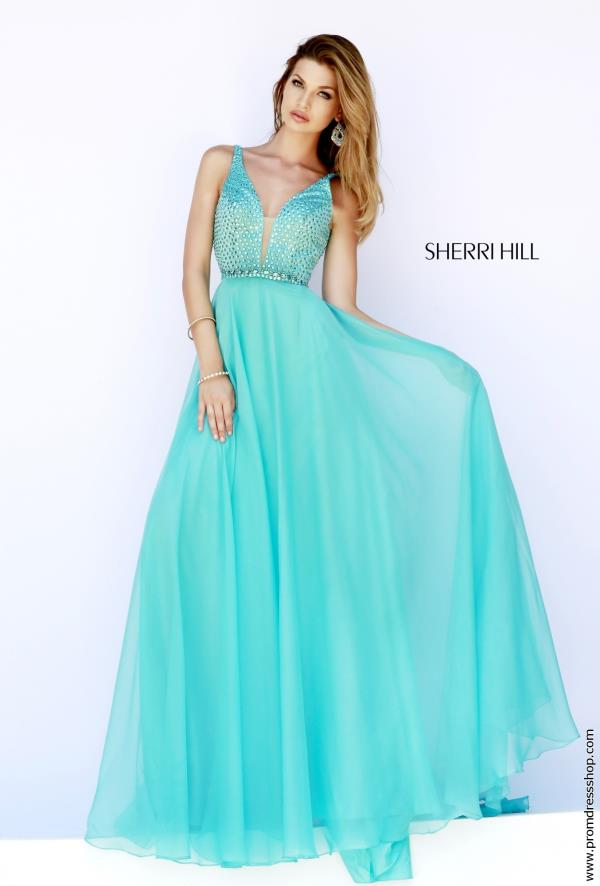 Two Straps A Line Sherri Hill Dress 32150