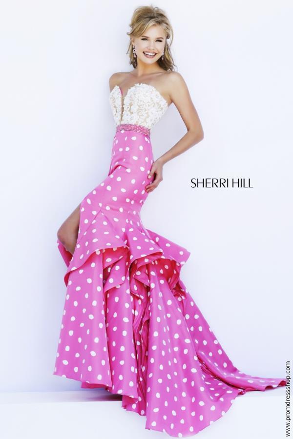 Polka Dot Prom Dress